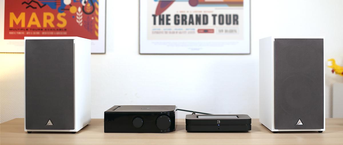 Le nouveau lecteur avec l'ampli NAD D3045 et les enceintes Triangle Borea BR02