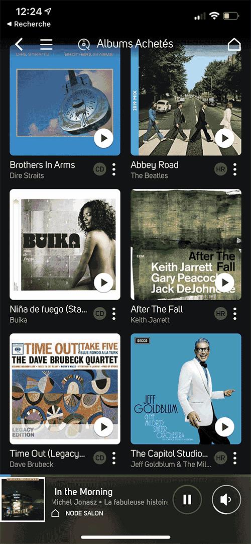 Les albums achetés chez Qobuz.