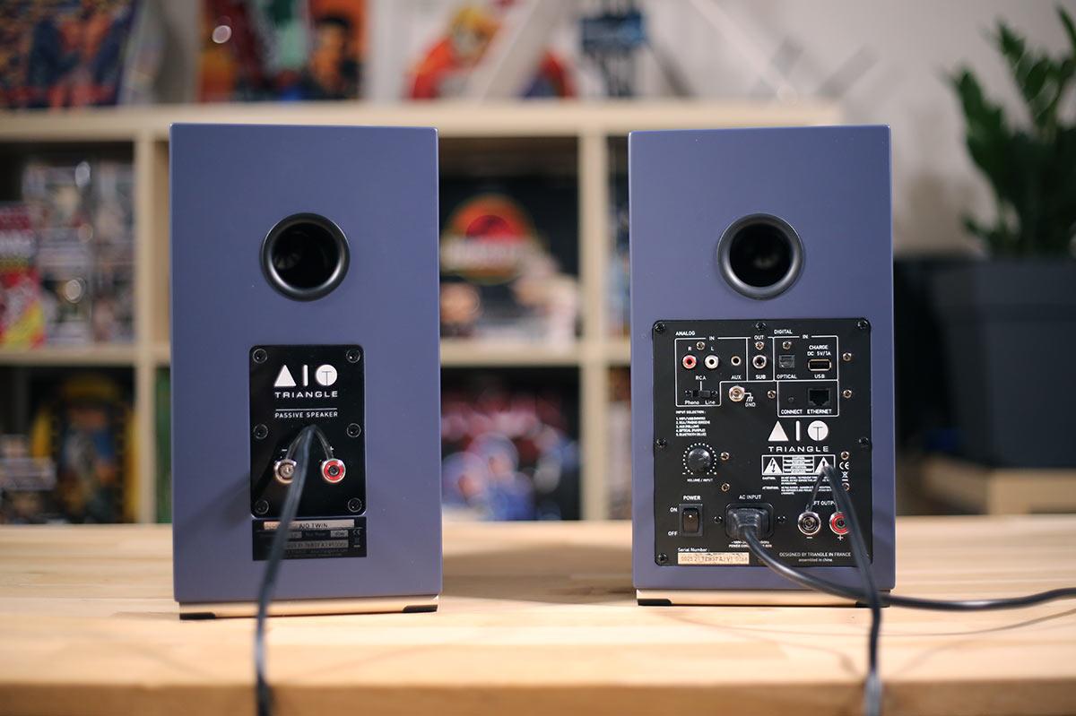 Triangle AIO TWin : Enceinte tout-en-un, des entrées et des sorties audio analogiques et numériques en qualité HiFi