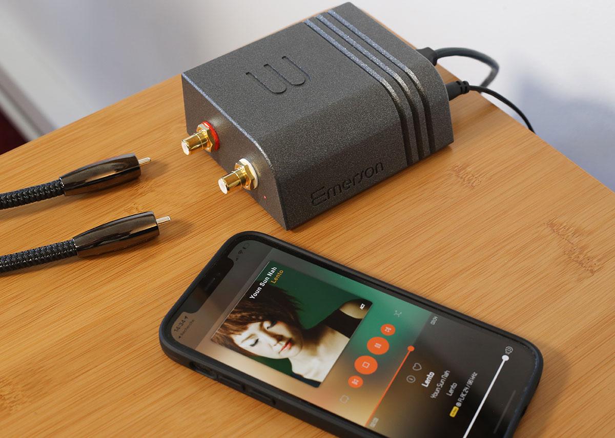 Les sorties audio analogiques du lecteur Emerson ANALOG au format RCA
