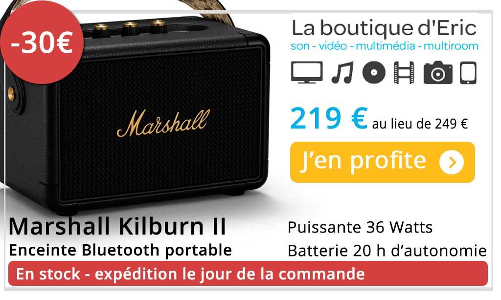 Marshall Kilburn II - meilleur enceinte Bluetooth portable avec batterie au meilleur prix