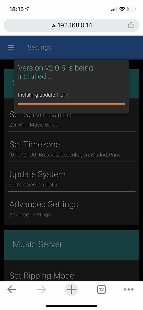 La mise à jour et l'installation de la version 2.0 de l'environnement InnuOS est automatique