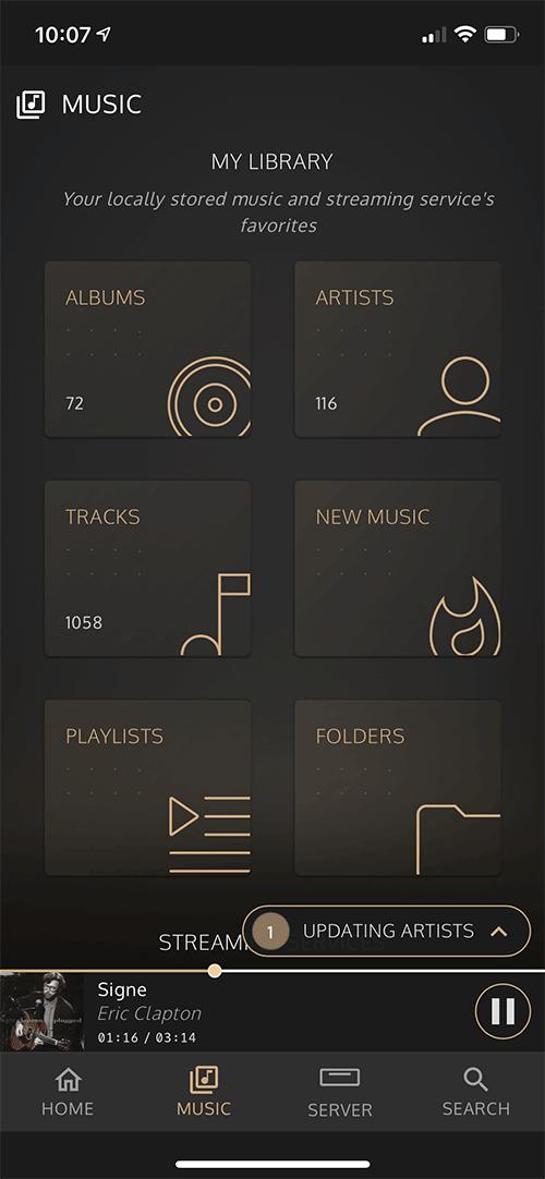 La bibliothèque musicale est en cours de mise à jour avec tout le contenu du serveur InnuOS
